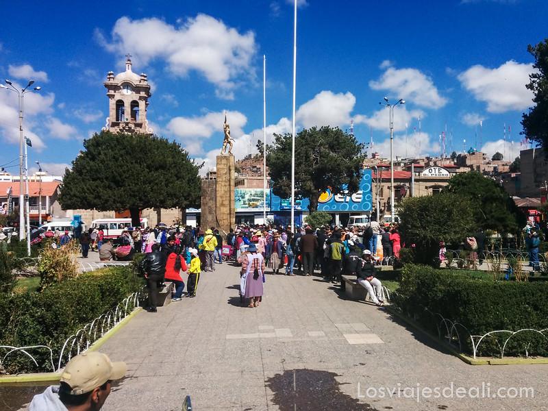 Juliaca ciudad entre Sillustani y Raqchi