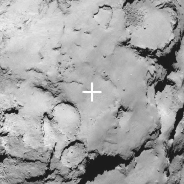 Philae's backup landing site