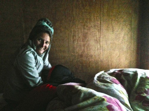 6:30am wakeup (pretty late actually) in our teahouse in Lobuche
