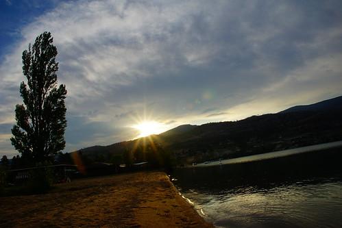 sky sun canada beach water clouds sand britishcolumbia sunriseonskahalakepenticton