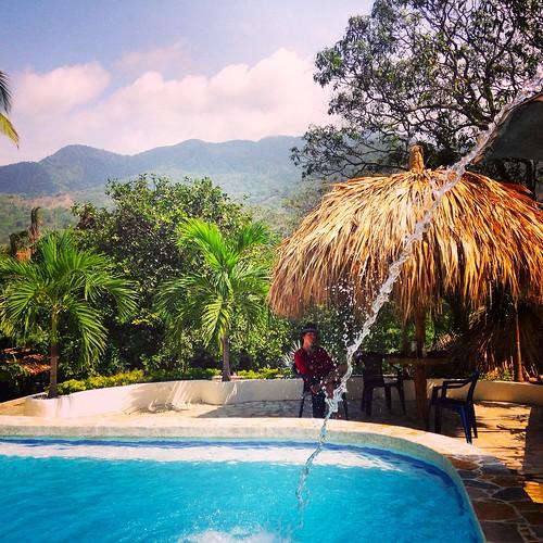 Kicking back at Hostal Monte Verde before we enter Tayrona National Park
