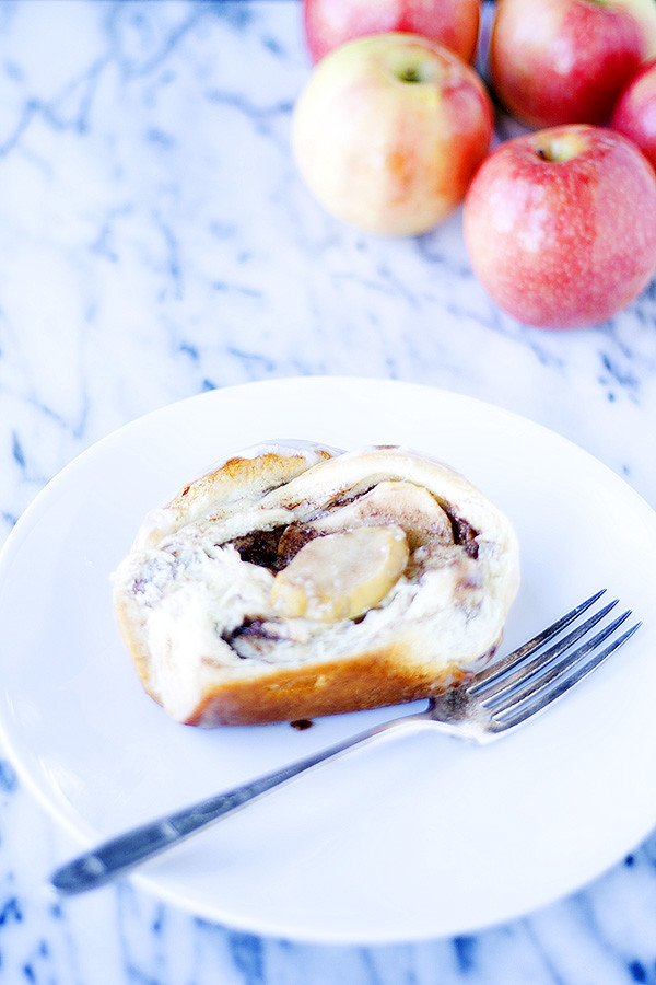 cinnamon roll and apple pull apart loaf
