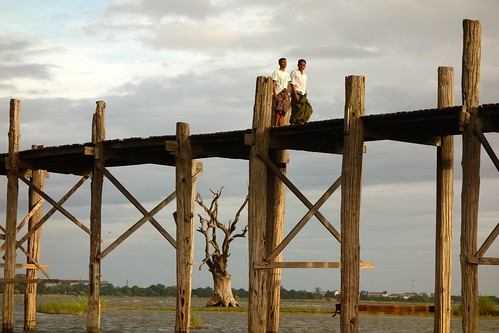 Sunset at U-Bein bridge, Myanmar