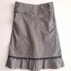 Nicole Grey Woven Skirt