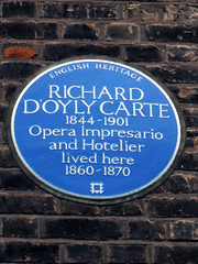 Photo of Richard D'Oyly Carte blue plaque