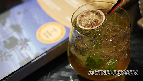 Indian mojito made with Indian rum