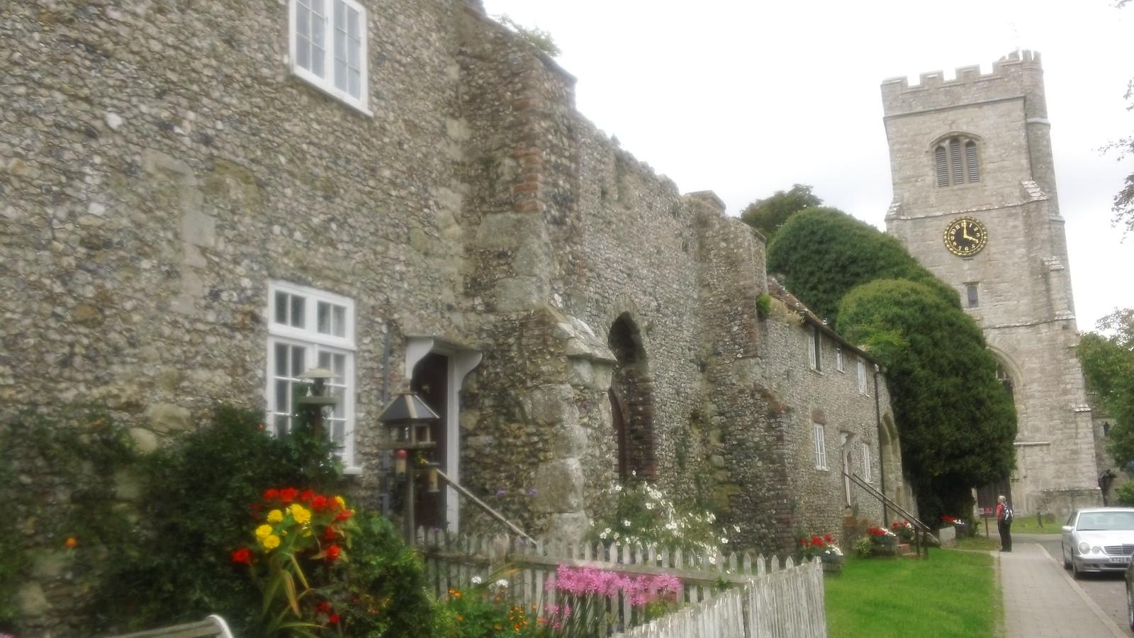 Charing Palace and church tower Charing, Kent