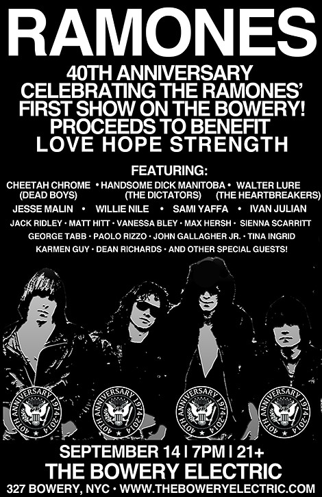 09/14/14 Ramones 40th Anniversary Tribute Show @ Bowery Electric, NYC, NY