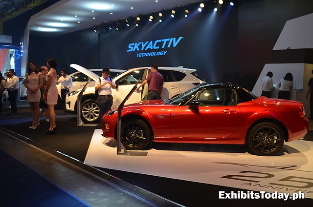 Mazda Skyactiv Technology exhibit booth