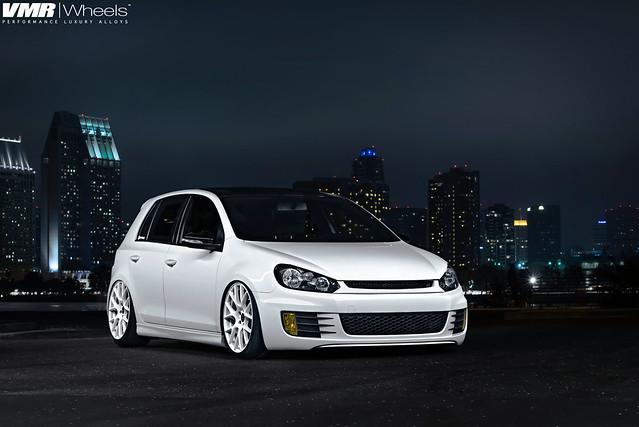 Vw San Diego >> Bagged Boser MKVI GTI | Flow-FormED V810 Candy White 19 ...