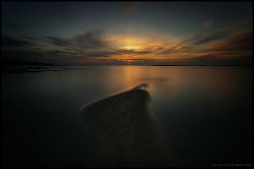 longexposure sunset sea beach water clouds strand sand vatten hav solnedgång moln nd400 fäboda storsand långexponering