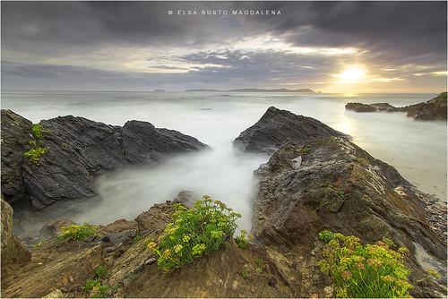 naturaleza atardecer major mar paisaje galicia cielo pontevedra rocas sanxenxo elsabustomagdalena pitusa2playa
