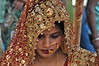 India-bride at Ganges ghat of Varanasi