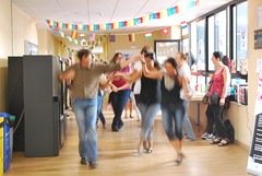 room, performing arts, entertainment, physical fitness, dance, person, physical exercise,