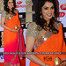 Orange Pink Plain Padding Georgette Saree With Blouse Sarees on Shimply.com
