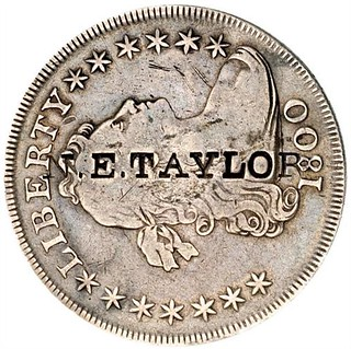 N.E. TAYLOR  on 1800 Bust Dollar