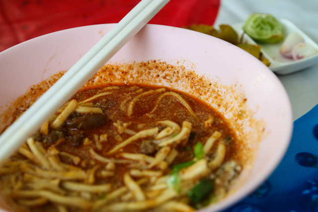 I like the broth dark and spicy