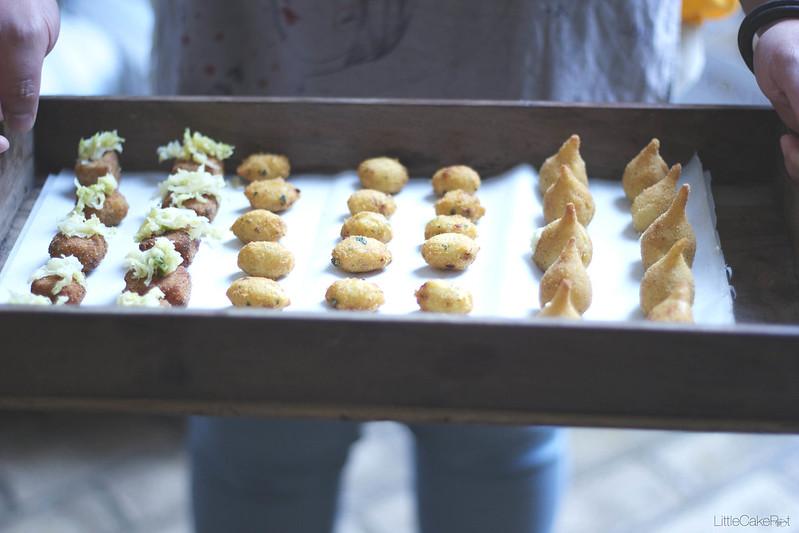 cozido a portuguesa croquettes, cod pasteis, coxinhas