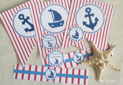 Kit imprimible Comunión marinera Merbo Events