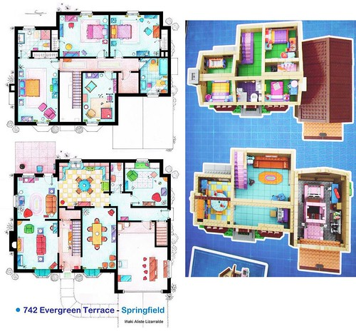 The layout of the simpsons house house best design for Simpsons house floor plan