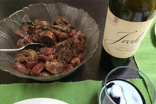Eggplant Chinese Sausage - Wine pairing