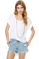 plain white oversized tee nasty gal