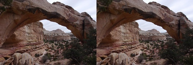 Natural Bridge,wide, cross-eyed format