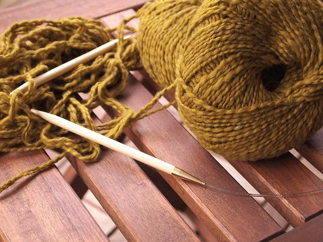 I startet knitting