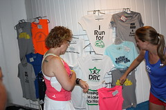 Club merchandise on sale during our races