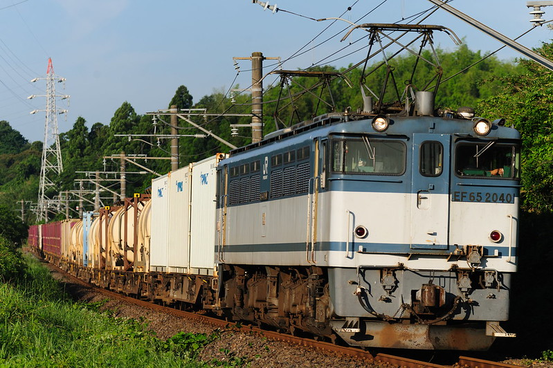 1095レ EF65 2040 Freight Train