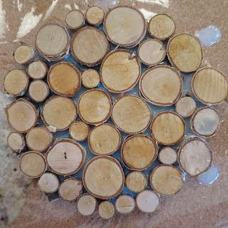 Iron Craft '14 Challenge #14 - Birch Slices Trivet