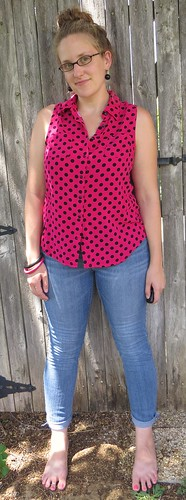 Pink Polka Dot Top - After