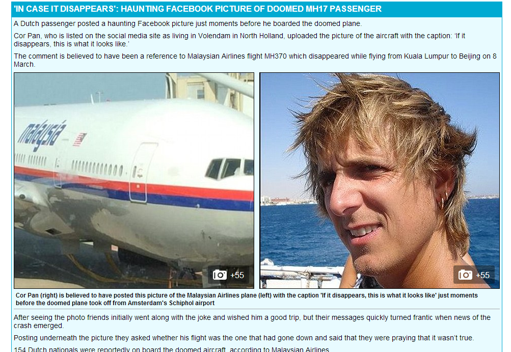 Malaysia Airlines Passenger Plane MH17 Shot Down in Ukraine near Russian border [Exclusive Photos]