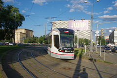 Moscow tram 71-911 at test run