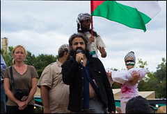 Dror Warschawski at Gaza solidarity rally, Montreal July 23, 2014