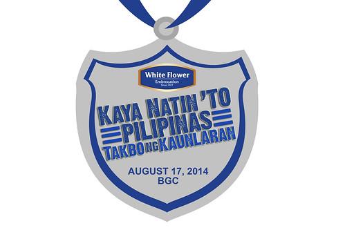 White Flower Run 2014 medal