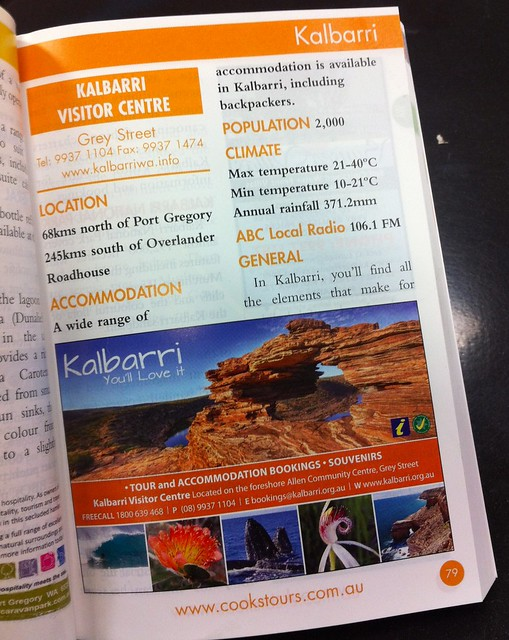 My Iconic Kalbarri Natures window used in a tourist booklet