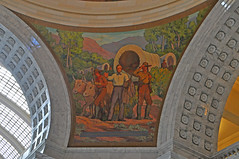 Brigham Young and Pioneers Entering the Valley
