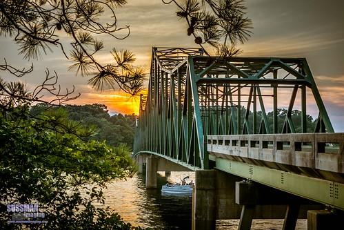 bridge sunset lake reflection nature water georgia unitedstates gainesville lanier lakelanier forsythcounty hallcounty brownsbridge thesussman sonyslta77 sussmanimaging