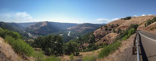 road panorama river washington pano canyon wa motorcycling klickitat