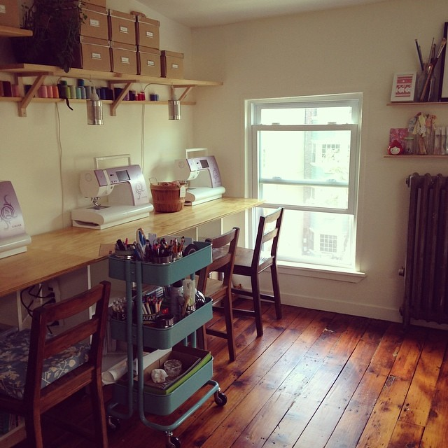 Been hanging out in this amazing space all day  so excited for class this weekend! @workroomsocial #workroomsocial #singersewing