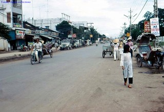 Street in front of church - Vinh Long 1973