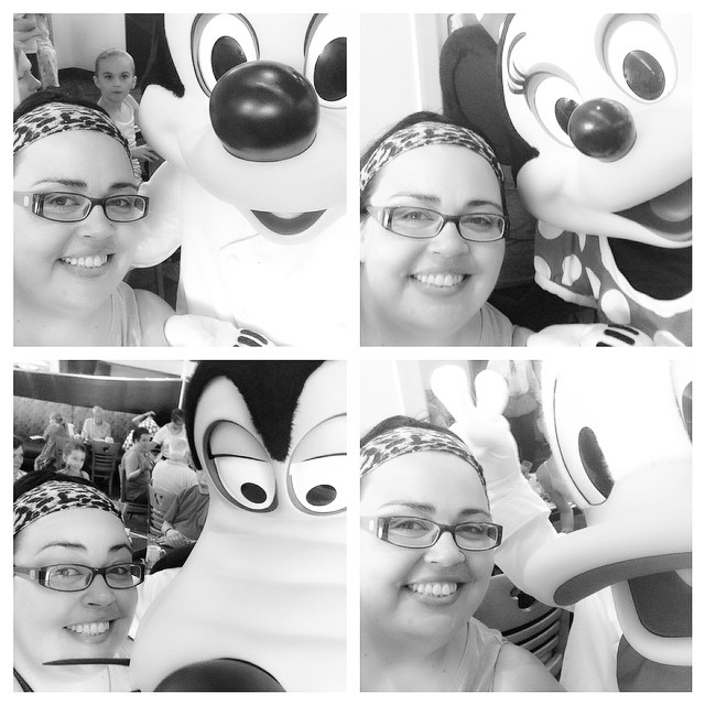 #mickey #minnie #donald and #goofy #selfie #dinearounddisney2014 #day4 #tppb