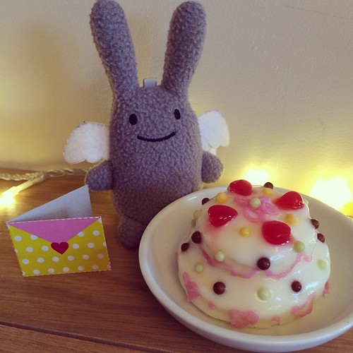 Happy Birthday Angel Bunny! I made you a cake and only a week late.