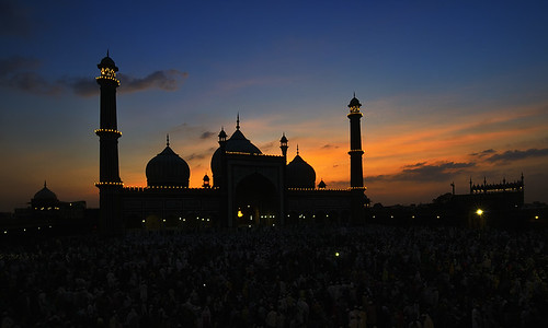 new light sunset india monument silhouette architecture backlight lens back nikon angle delhi indian wide mosque nikkor monuments ultra masjid nimit silhouttes d800 1735mm jama nigam uwa backlightning delhite