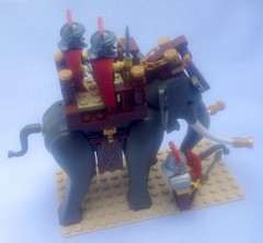 The Legions of the Empire of Thyatis make extensive use of war elephants. These heavy cavalry units are legendary for their ability to break the enemy ranks and instill terror.