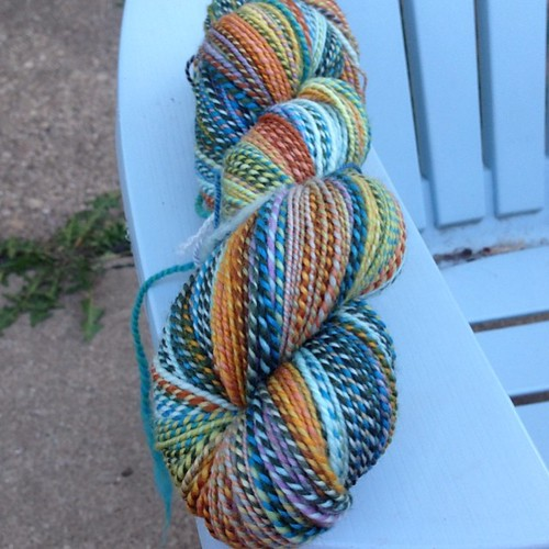 And with this skein, I made my #tdfleece2014 goal!! #tourdefleece2014 #stashdash2014