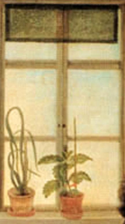 Johann Joseph Schmeller, Goethe seinem Schreiber John diktierend, 1831, Detail