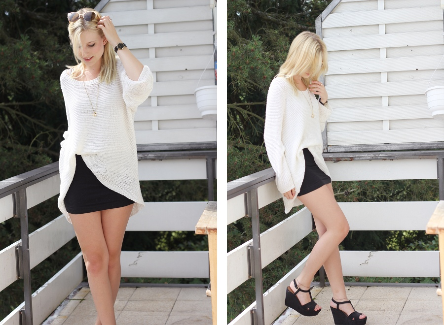 outfit-white-jumper-skirt-wedges