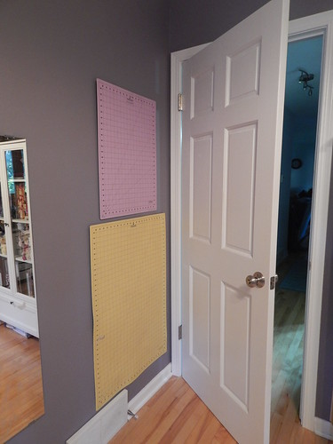 Sewing Room:  Mat storage